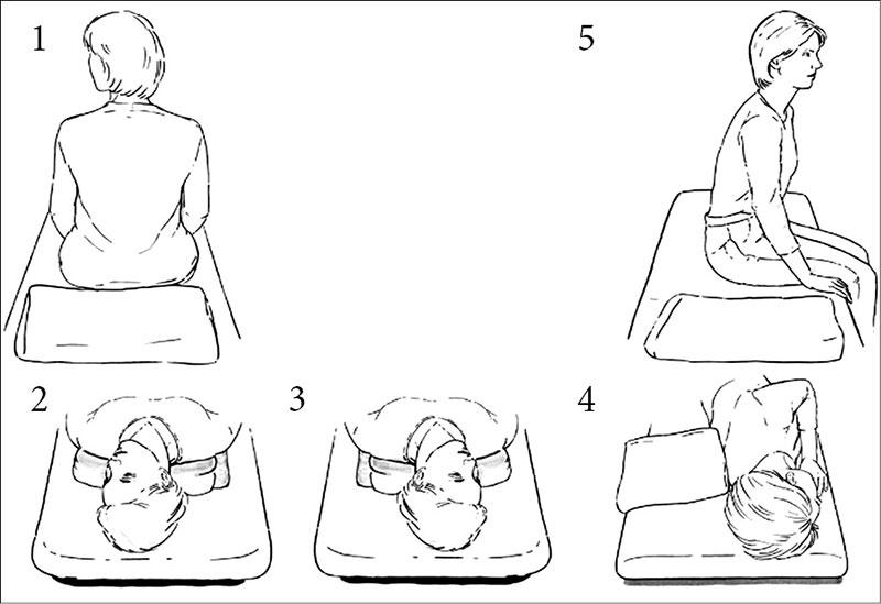 Упражнение при головокружении по эппле
